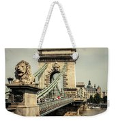 Chain Bridge Crossing The Danube River Weekender Tote Bag