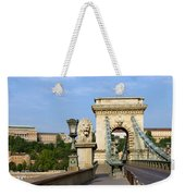 Chain Bridge In Budapest Weekender Tote Bag