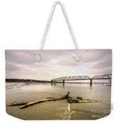 Chain Of Rocks Bridge  Weekender Tote Bag