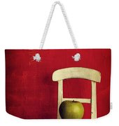 Chair Apple Red Still Life Weekender Tote Bag