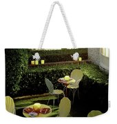 Chairs And Tables In A Garden Weekender Tote Bag