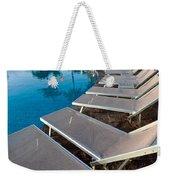 Chairs Around Hotel Pool Weekender Tote Bag by Brandon Bourdages