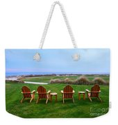 Chairs At The Eighteenth Hole Weekender Tote Bag