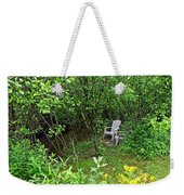 Chairs By The Creek In Summer Weekender Tote Bag