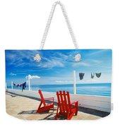 Chairs Cape Cod Ma Weekender Tote Bag