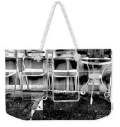 Chairs - New York City Street Scene Weekender Tote Bag