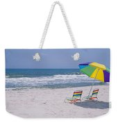 Chairs On The Beach, Gulf Of Mexico Weekender Tote Bag