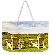 Chairs Overlooking Vineyard Weekender Tote Bag by Elena Elisseeva