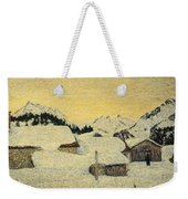 Chalets In Snow Weekender Tote Bag by Giovanni Segantini