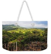 Chamarel Waterfall. Mauritius Weekender Tote Bag