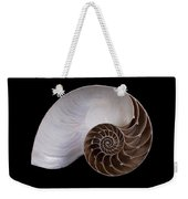 Chambered Nautilus Cross-section Weekender Tote Bag