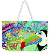 Chameleon And Toucan Weekender Tote Bag