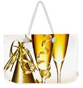 Champagne And New Years Party Decorations Weekender Tote Bag