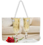 Champagne And Rose Weekender Tote Bag