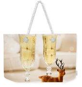 Champagne At Christmas Weekender Tote Bag