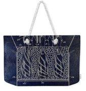 Champagne Bottle Freezer Patent 1902 Blue Weekender Tote Bag