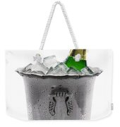 Champagne Bottle On Ice Weekender Tote Bag