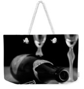 Champagne Bottle Still Life Weekender Tote Bag by Edward Fielding