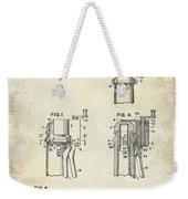 Champagne  Cork Extractor And Wire Cutter Patent Drawing Weekender Tote Bag