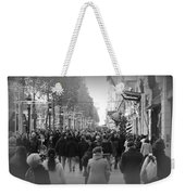 Champs Elysees Black N White Weekender Tote Bag