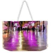 Champs Elysees In Pink Weekender Tote Bag