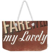 Chandler: Farewell, 1940 Weekender Tote Bag