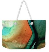 Green Abstract Art - Changing Course - Sharon Cummings Weekender Tote Bag