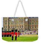 Changing Of The Guard In Front Of Parliament Building In Ottawa- Weekender Tote Bag