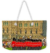 Changing Of The Guard In Front Of The Parliament Building In Ottawa-on Weekender Tote Bag