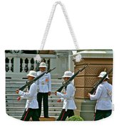 Changing Of The Guard Near Reception Hall At Grand Palace Of Thailand In Bangkok Weekender Tote Bag