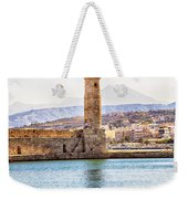 Chania Lighthouse Weekender Tote Bag