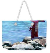 Channel Fishing Weekender Tote Bag