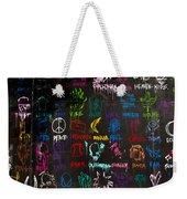 Chaos In Colors Weekender Tote Bag