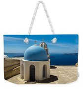 Chapel On Santorini Weekender Tote Bag