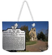 Chapel University Of Virginia Weekender Tote Bag