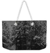 Charcoal Snowfall Weekender Tote Bag