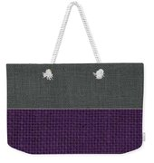 Charcoal With Purple Weekender Tote Bag