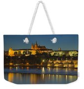 Charles Bridge And Prague Castle At Dusk  Weekender Tote Bag