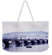 Charles Bridge In Winter Weekender Tote Bag
