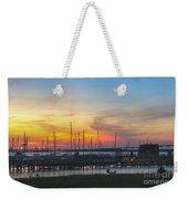 Charleston Harbor Sunset Weekender Tote Bag