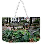 Charleston Waterfront Park Benches Weekender Tote Bag by Carol Groenen