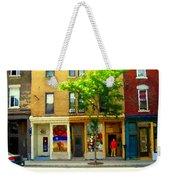Charlevoix And Notre Dame Little Antique Shops St Henri Art Montreal Street Scene Carole Spandau Weekender Tote Bag