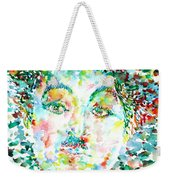 Charlie Chaplin - Watercolor Portrait Weekender Tote Bag