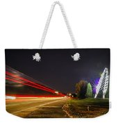 Charlotte City Airport Entrance Sculpture Weekender Tote Bag