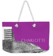 Charlotte Nascar Hall Of Fame - Plum North Carolina Weekender Tote Bag