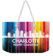 Charlotte Nc 2 Weekender Tote Bag by Angelina Vick