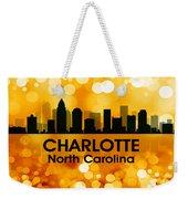 Charlotte Nc 3 Weekender Tote Bag by Angelina Vick