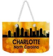 Charlotte Nc 3 Squared Weekender Tote Bag
