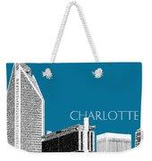 Charlotte Skyline 1 - Steel Weekender Tote Bag