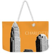 Charlotte Skyline 2 - Orange Weekender Tote Bag
